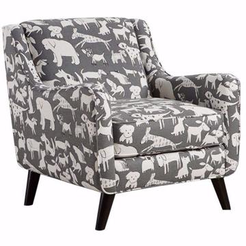 Picture of Doggie Graphite Accent Chair