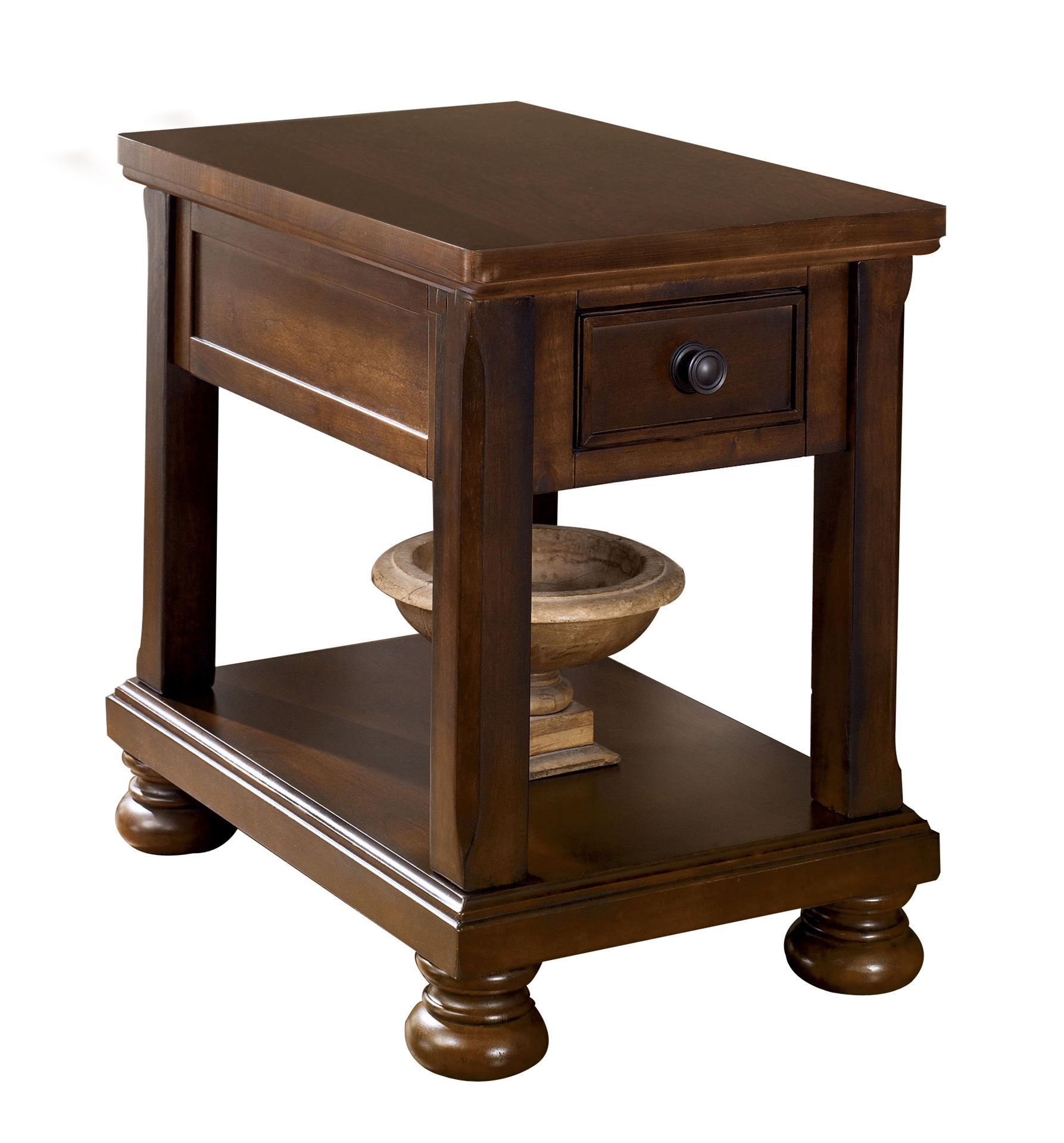 Jansen Chairside End Table Living Room Occassional Tables