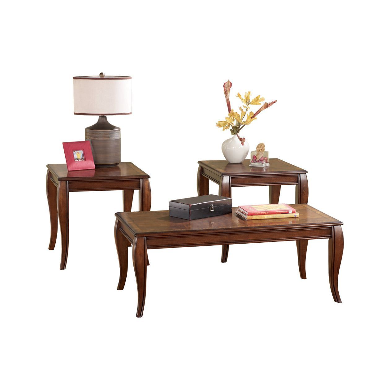 Thoroughbred Occassional Table Set Living Room Occassional Tables