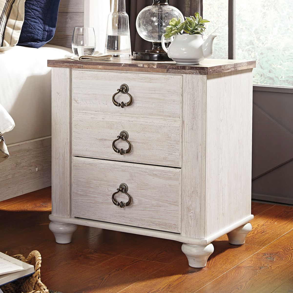 wildflower 2 drawer nightstand | bedroom night stands | lifestyle furniturebabette's