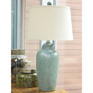 Picture of Saher Blue-Green Ceramic Table Lamp