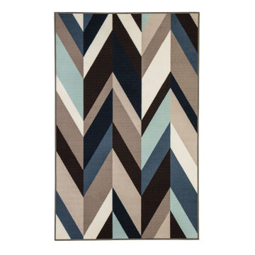 Picture of Keelia Blue/Brown/Gray Geometric 5X8 Rug