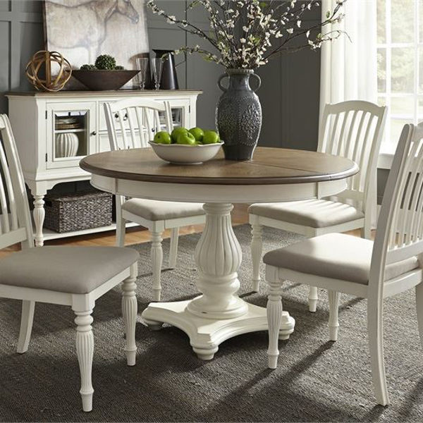 Dragonfly 5 Piece Pedestal Table Dining Set By Liberty
