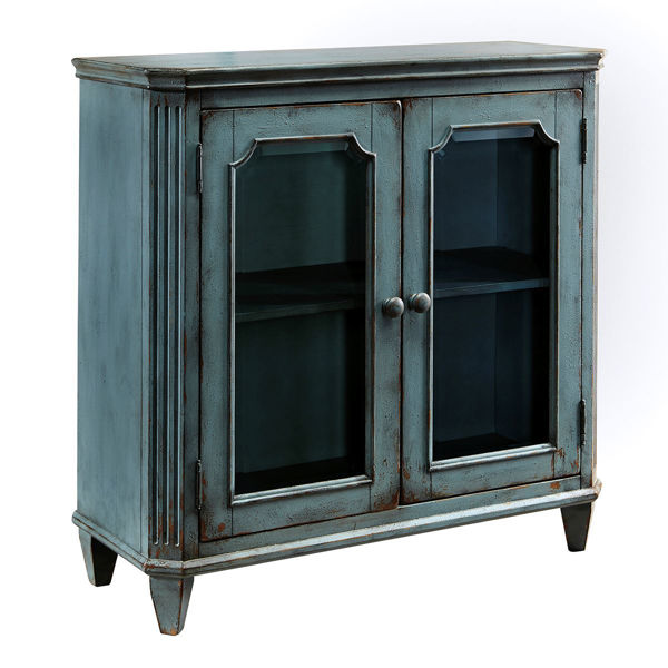Picture of Accent Cabinet in Antique Teal