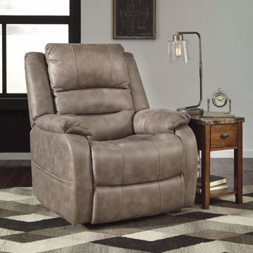 Picture of Barnett Recliner with Power Headrest In Mushroom