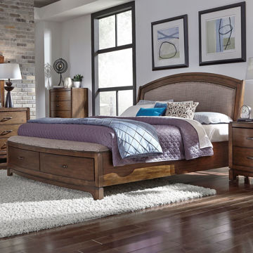 Picture of Kennedy Queen Upholstered Bed with Storage