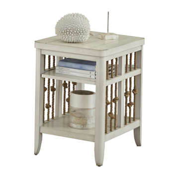 Picture of Reef White Chairside Table