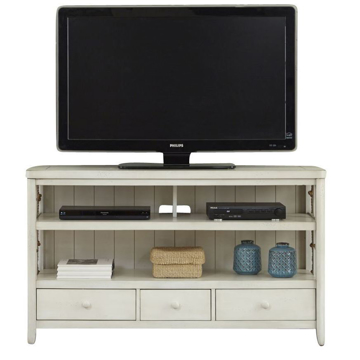 """Picture of Reef 55"""" White Entertainment Console"""