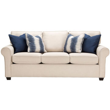Serena Sofa in Canvas Flax front view U2635-CANVAS-FLAX England Furniture