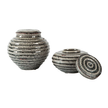 Picture of Devonee Set of 2 Ceramic Jars