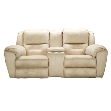 Picture of Graham Khaki Power Headrest Loveseat with Console