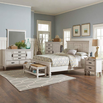 Picture of Nassau Antique White Bedroom Collection