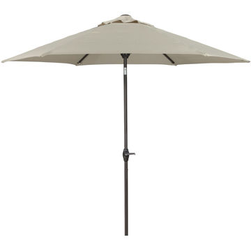Picture of Medium Auto Tilt Beige Umbrella