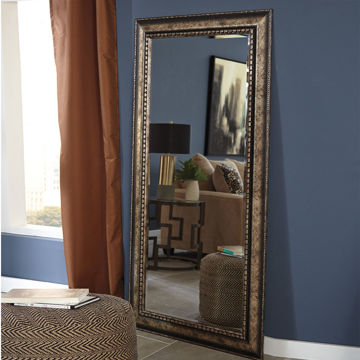 Picture of Dulal Antique Gold Frame Floor Mirror