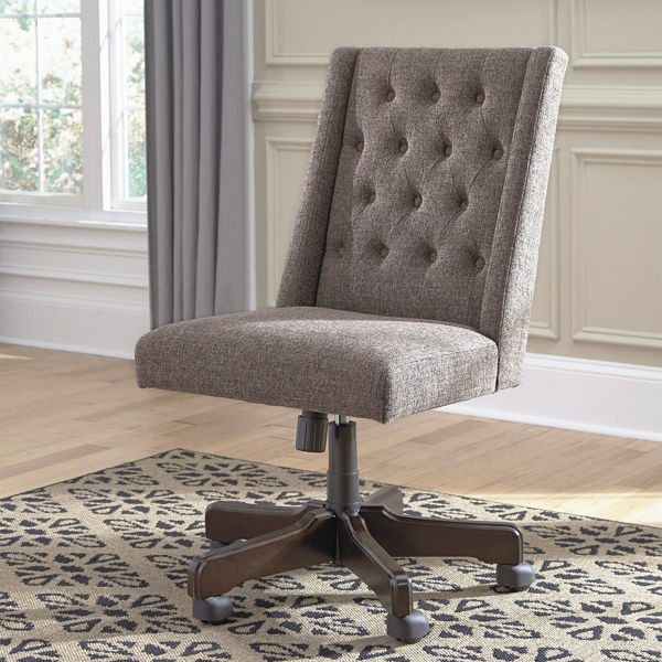 Picture of Grey Tufted Desk Chair