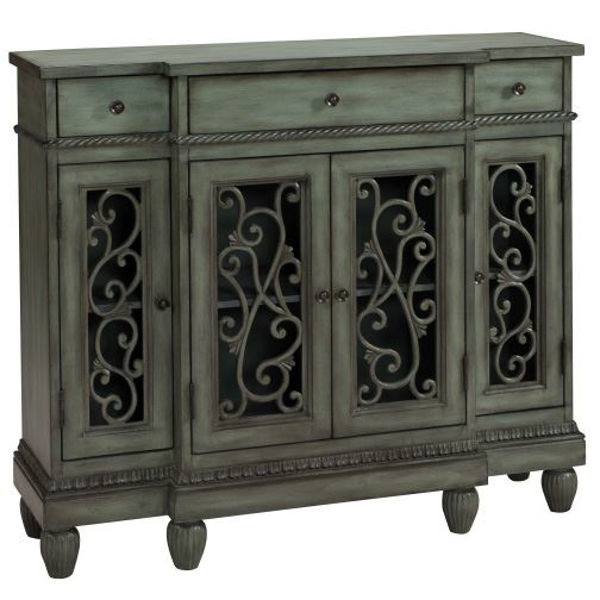 Picture of Grey Scroll Credenza