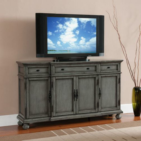 Picture of Grey 4 Door 3 Drawer Credenza