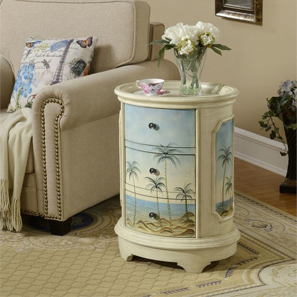 Picture of 3 Drawer Oval Chest