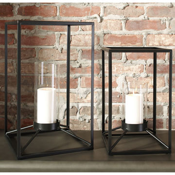 Picture of Dimtrois Metal & Glass Candle Holder Set