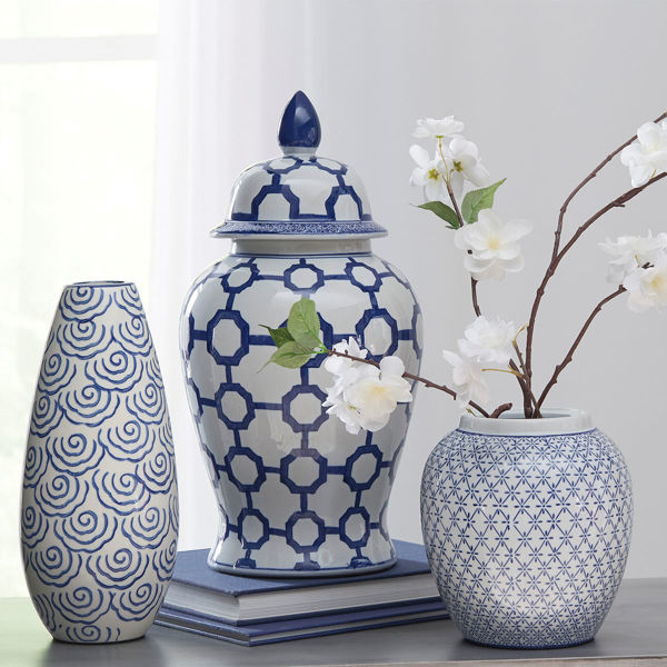 Picture of Dionyhsius Blue & White Lidded Jar