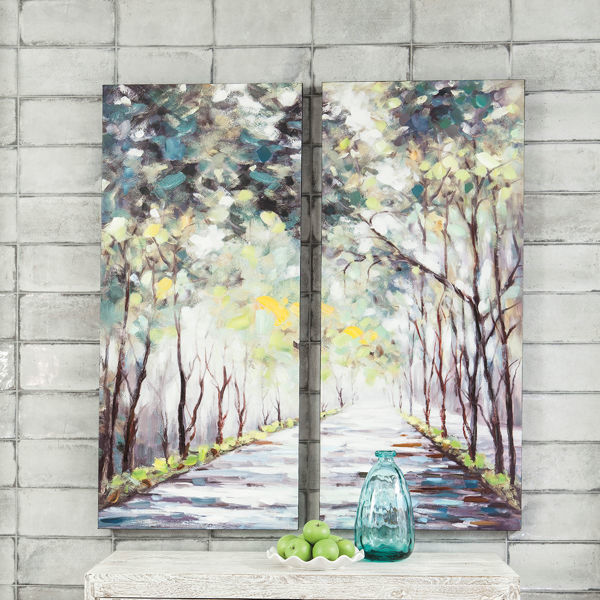 Picture of Donagh Shaded Tree Wall Canvas Set