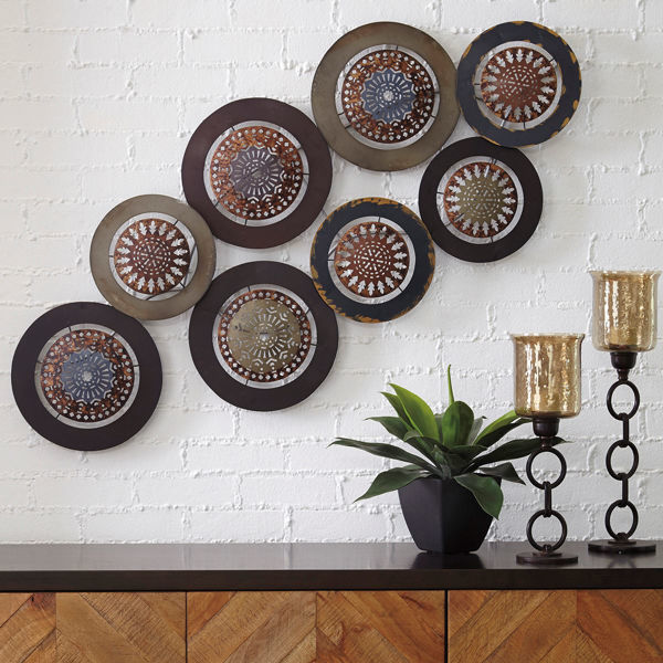 Picture of Dhruv Metal Medallion Wall Art