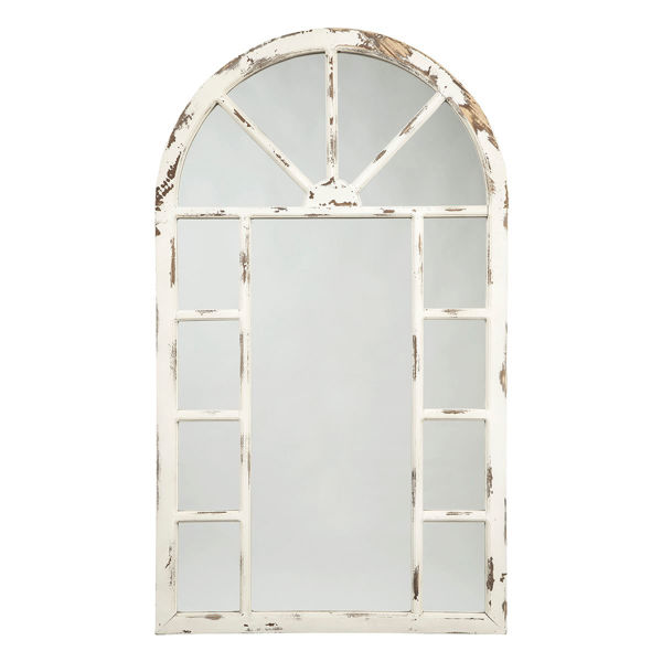 Picture of Divakar Arched Whitewashed Mirror