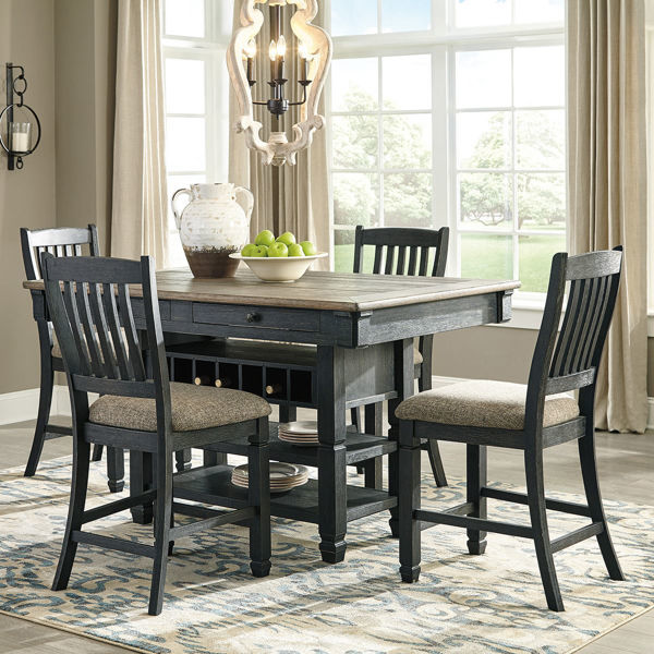 Picture of Antiquity Gray 5 Piece Hightop Dining Set - Antiquity Gray 5 Piece Hightop Dining Set Lifestyle Furniture By