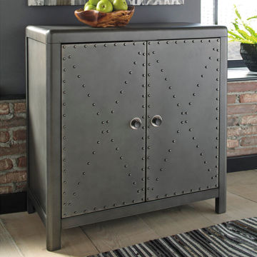 Picture of Aged Steel Metal Cabinet