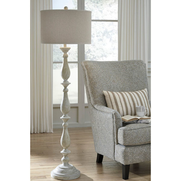 Picture of Bernadate White Floor Lamp