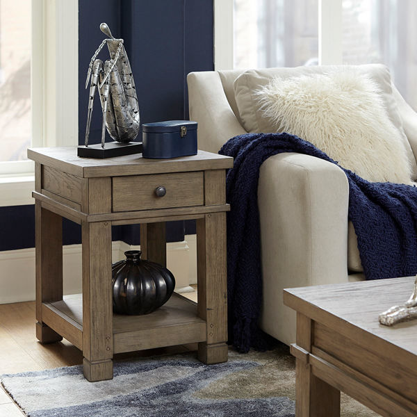 Picture of Triston Chairside Table in Stone