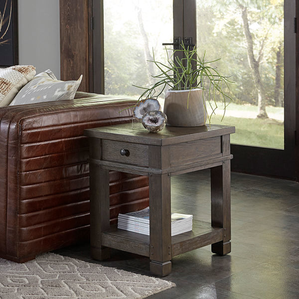 Picture of Triston Chairside Table in Bark