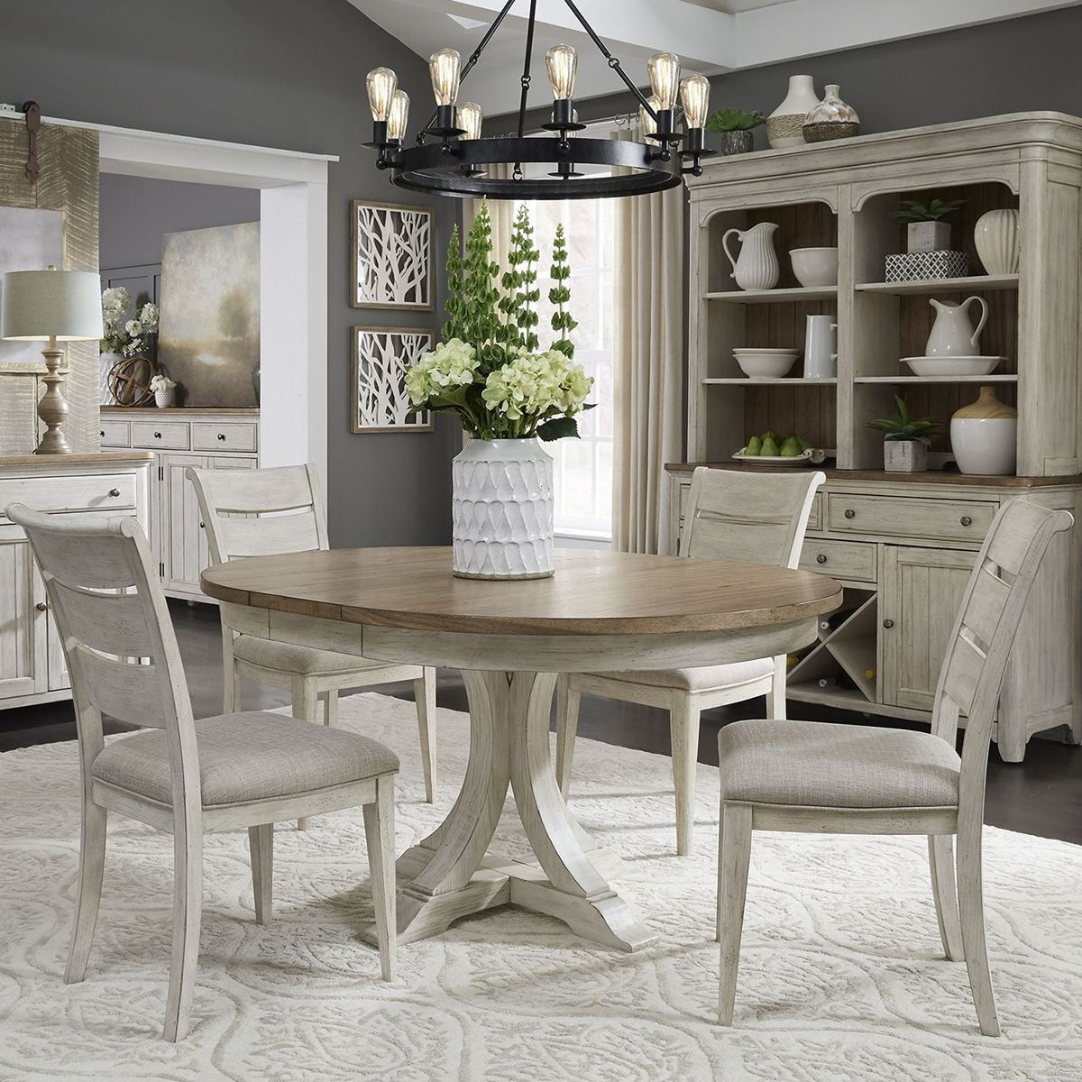 Roanoak 5 Piece Oval Dining Room Set