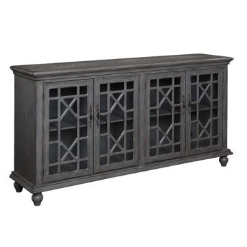 Picture of Grey 4 Door Media Credenza