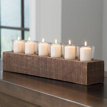 Picture of Cassandra Wood Votive Holder