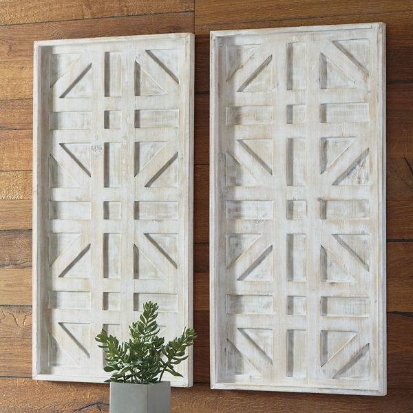 Picture of Distressed Wall Panel Pair