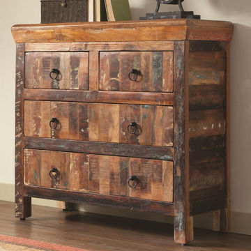 Picture of Reclaimed Wood Accent Cabinet With 4 Drawers