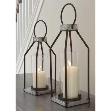 Picture of Deidrick Set Of 2 Metal Lanterns