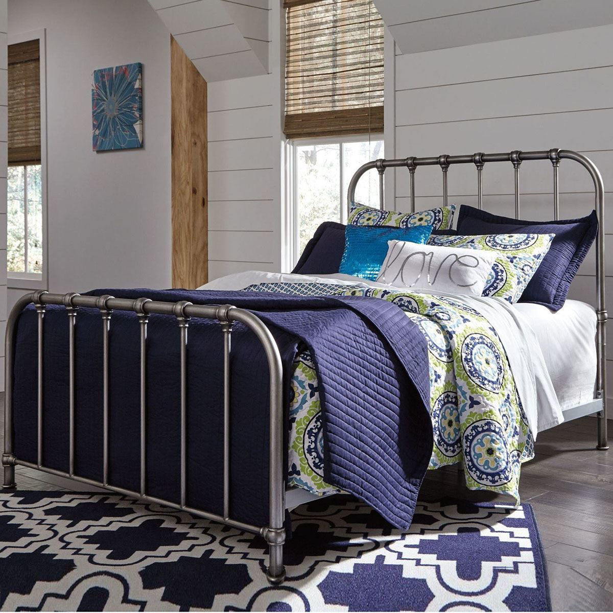 Nashville Queen Metal Bed B280 581 Bedroom Furniture At Lifestyle Furniture By Babette S