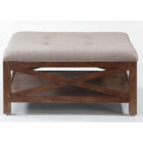 Picture of Hampton Square Ottoman with Casters