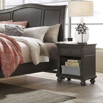 Picture of Oxford 1 Drawer Nightstand In Peppercorn