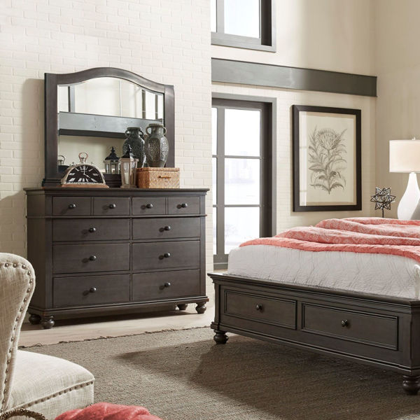 Picture of Oxford 6 Drawer Double Dresser In Peppercorn