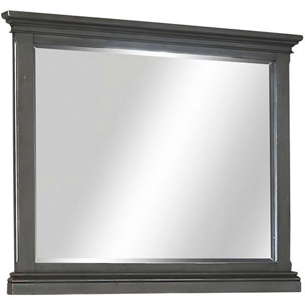 Picture of Oxford Landscape Mirror In Peppercorn