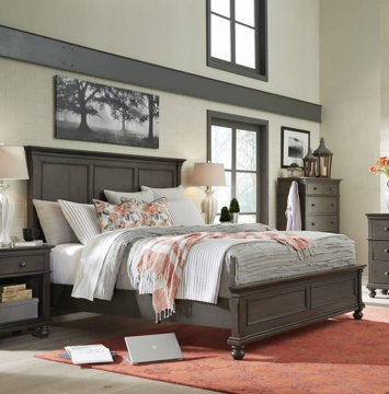 Picture of Oxford Queen Lopro Bed in Peppercorn