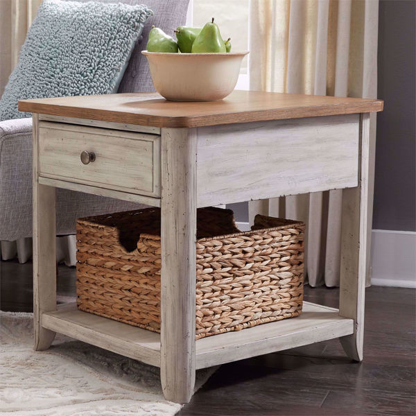 Picture of Roanoak End Table with Basket