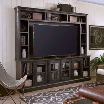 """Picture of Winston 2 Piece 84"""" Entertainment Wall in Grey"""