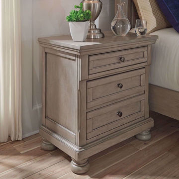 Picture of Kenley Light Gray 2 Drawer Nightstand