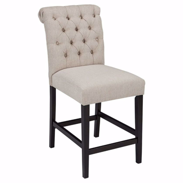 Picture of Emma Linen Upholstered Bar Stool