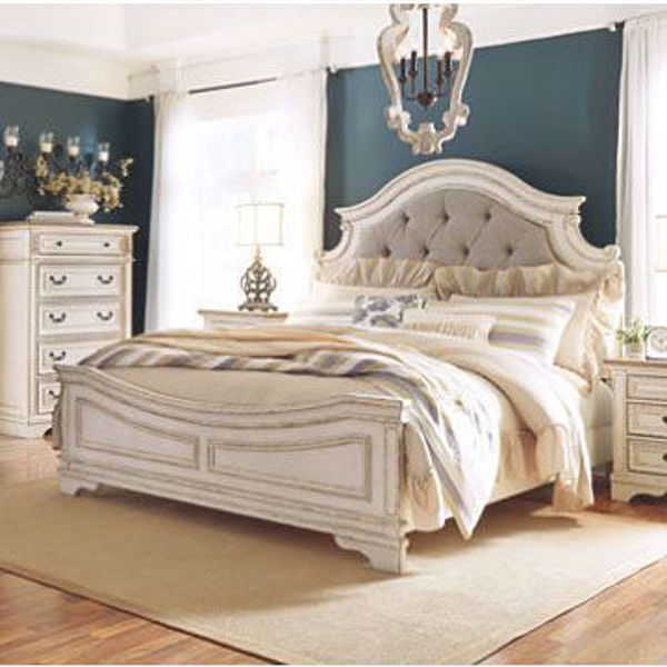 Picture of Roslyn King Upholstered Panel Bed