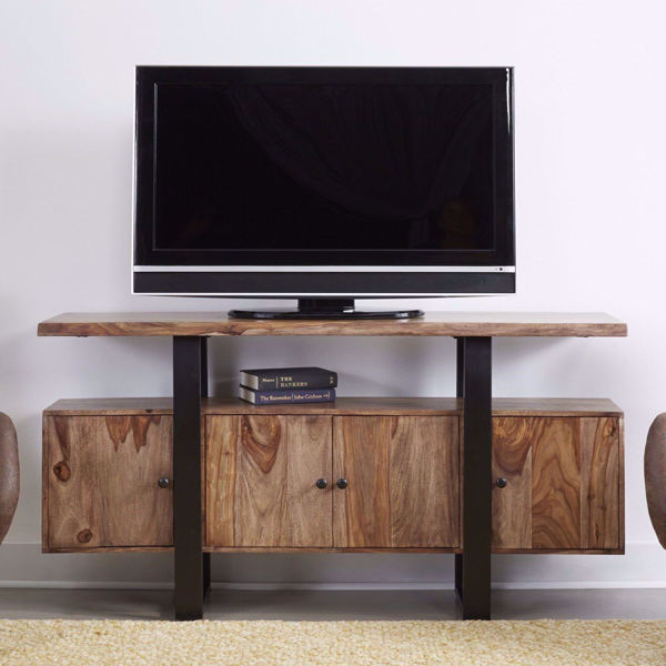 Picture of Rustic Contemporary 4-Door Media Credenza